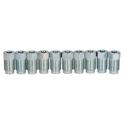"""Steel Male Brake Pipe Union Fittings 7/16"""" x 24 UNF for 3/16"""" Brake Pipe 10pc"""