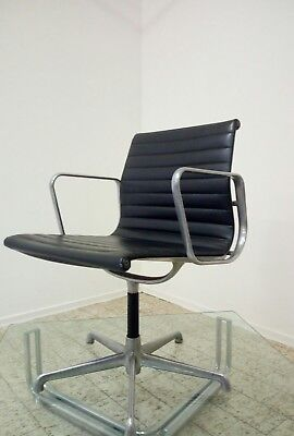 Eames executive office leather Aluminium chair for ICF 70s