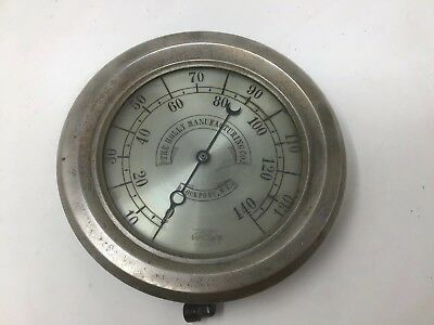 """Antique Crosby Pressure Gauge Holly Manufacturing Co Steam Engine Lockport NY 9"""""""
