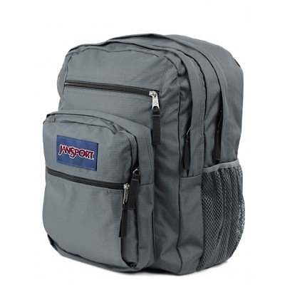 JANSPORT BIG STUDENT Backpack Forge - Grey School Bag TDN76XD - UK Stockist