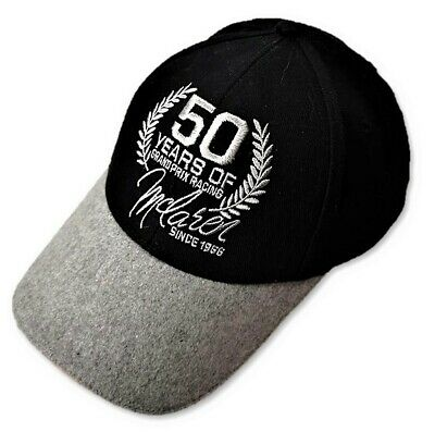 CAP Team Members Formula One 1 McLaren 50 Years Grand Prix Racing F1 NEW! Black
