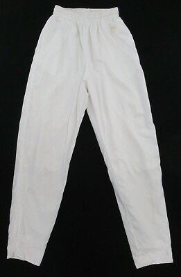 Nike Mesh Lined Athletic Pants Women s White Ankle Zipper Size 10~12 M  B903 cf249aa3fa