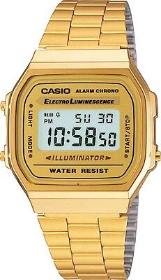 Casio Men's Gold tone Stainless Steel Quartz Watch with Digital Dial Eliminator