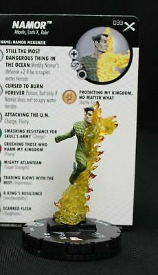 #	033		Namor	 - RARE - 	Marvel Heroclix EARTH X