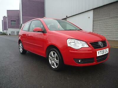 2008 VOLKSWAGEN POLO 1.2 Match 60 3dr Alloys Red Ideal first car