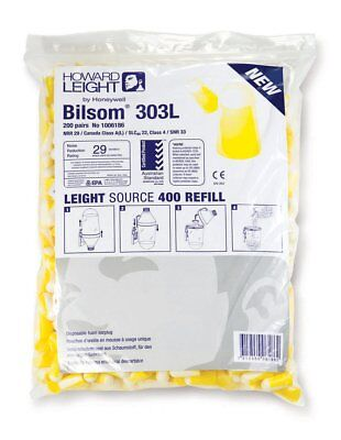 Bouchons D'Oreille Howard Leight Bilsom 303l Snr33db Uncorded Refill Sac 200