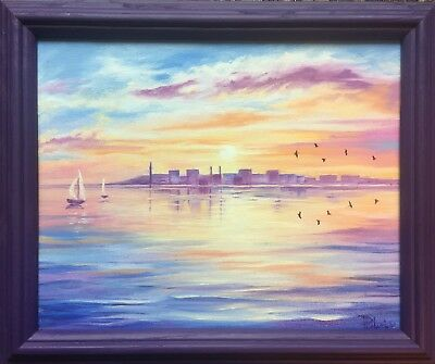 "Original oil painting on canvas. ""Morning"" 12""x9"" Framed, signed by the artist."