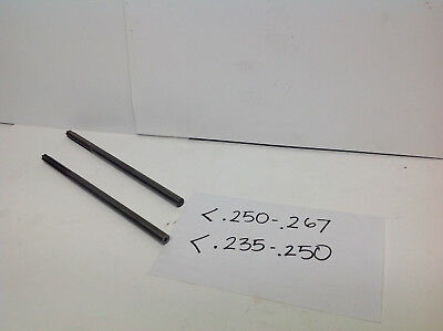 1 lot of 2pcs(1pc .235-.250/1pc .250-.267)Solid Carbide Step Reamers (#745-D-2)