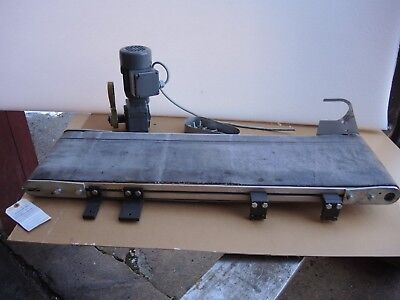 """Electric conveyor 10"""" x 38"""" with 3-phase gear motor 0.12 KW Flender CA10-G56M2"""