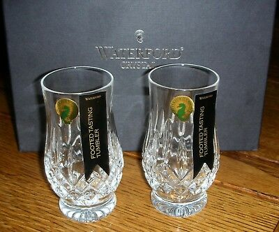 Pair (2) Waterford Crystal Lismore Connoisseur Footed Tasting Tumblers NEW NIB