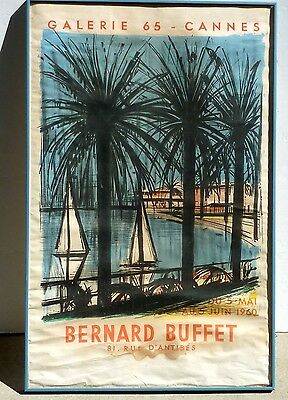 345eb0ef424 Bernard Buffet French Galerie 65 - Cannes Original Color Lithograph Poster