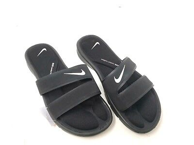 4f31dcdc0478 USED NIKE COMFORT SLIDE 2 BLACK SILVER WHITE SLIDES sliders mens ...
