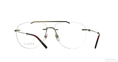 9beb40480e85 NEW AUTHENTIC* GUCCI GG0398O 002 GOLD EYEGLASS FRAME, SIZE 58mm ...