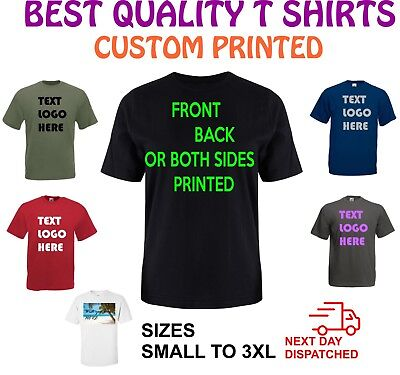 Custom printed T shirt Personalised,Printed,Birthday,Stag,Gift,Work,Logo,Text