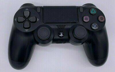 Official Sony PlayStation 4 PS4 Dualshock 4 Wireless Controller Jet Black VG