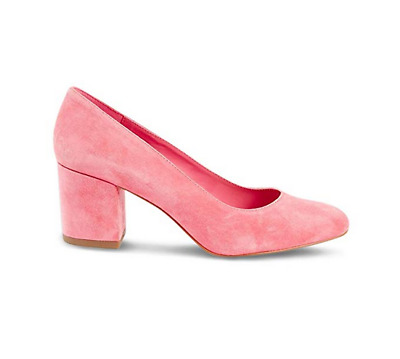 4973604f33dd Marks & Spencer Insolia Wide Fit Pink Suede Block Heel Court Shoes 3.5 RRP  £45