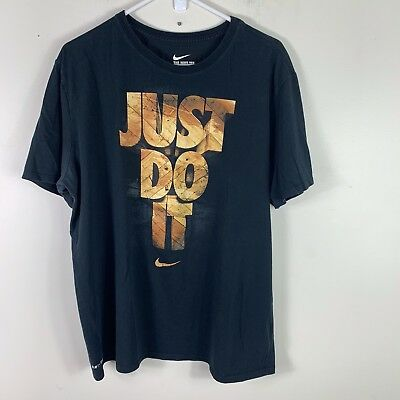 32d0e6951719a NIKE the nike tee mens size XL short sleeve logo just do it t shirt black