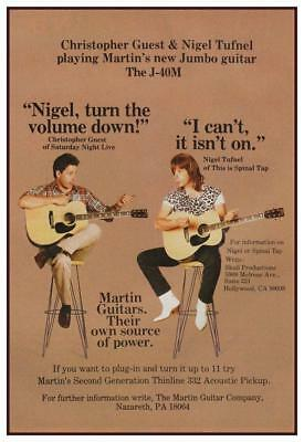 Nigel Tufnel Spinal Tap Christopher Guest Music Print Poster Wall Art 8.5x11