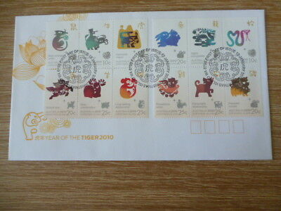 Australia fdc 2010 Christmas Island Year Of the Tiger mini sheet