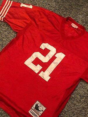 Mitchell   Ness DEION SANDERS VINTAGE THROWBACK 49ERS 1994 Jersey in size  Large 1cda7298b