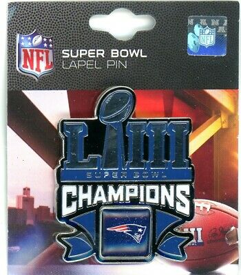 Patriots Super Bowl LIII Champs Pin 53 NFL New England Champions 2019 PSG