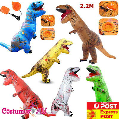 ADULT T-REX INFLATABLE Jurassic World Park Blowup Dinosaur TRex T Rex Costume