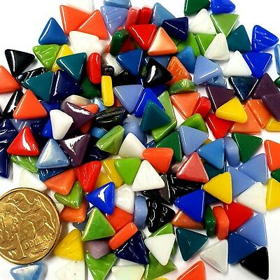 Glass Triangles - 10mm - 50grams - 25 colours to choose from
