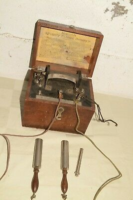 1920s Vtg FARADIC BATTERY McIntosh QUACK MEDICINE Shock Therapy SHOCKING COIL