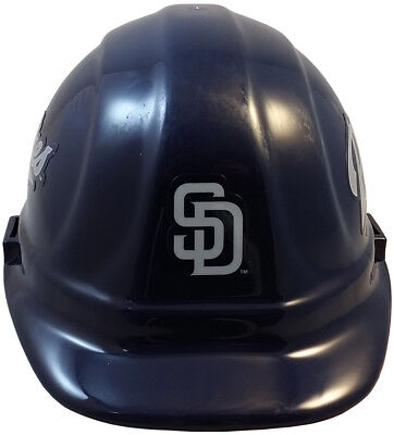 MLB SAN DIEGO PADRES OSHA Approved Hard Hat Ratchet-Pin Type Susp Made in USA