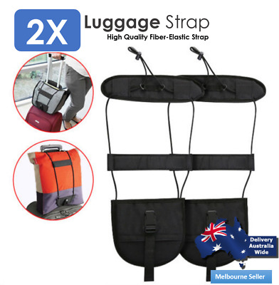 2X Adjustable Travel Luggage Bungee Belt Add A Bag Strap Easy to Carry GM