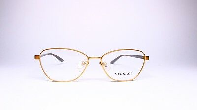 7434b2a28b New Versace Mod. 1221 1329 Gold Eyeglasses Authentic Frame Rx Mod.1221 52-