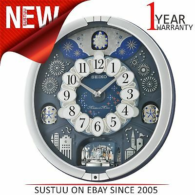 Seiko Melodies In Motion Wall Clock│Westminster Chime│Metallic Silver│QXM379S