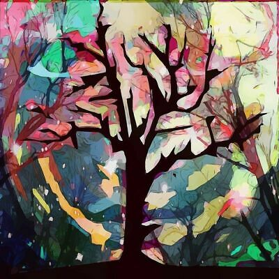 Beautiful Abstract Tree Colorful Print Home Decor Wall Art choose your size