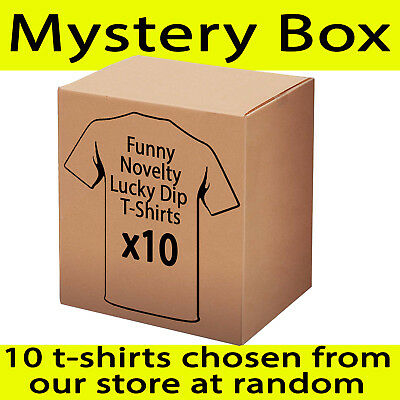 RRP $230 Lucky Dip - T Shirts x10  Funny Novelty tees - Random from our store