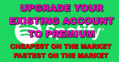 Spotify Premium LIFETIME *UPGRADE YOUR OWN EXISTING ACCOUNT* SUPER FAST DELIVERY