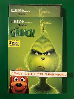 The Grinch DVD W/Slipcover (2018) **AUTHENTIC DVD READ** Brand New Free Shipping