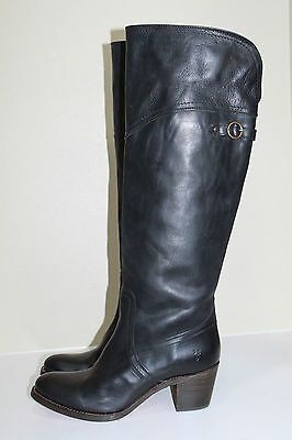 ad5cc384439 FRYE NEW JANE Black Western LEATHER Boots Tall Extended Calf NIB ...