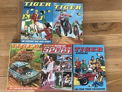 Vintage 1970s Tiger Annuals 1971 1972 1973 1976 1979 Magazines Football Soccer