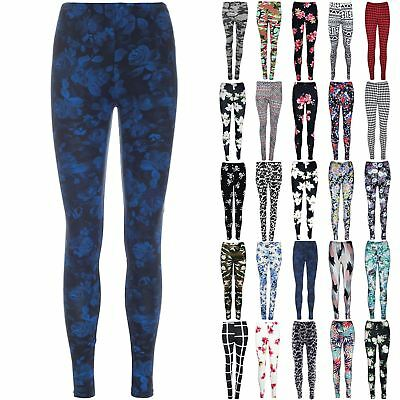 Ladies Floral Army Print Jeggings Womens Ankle Length Pants Leggings Plus Sizes