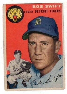 1954 Topps #65 Bob Swift - Detroit Tigers, Very Good - Excellent Condition