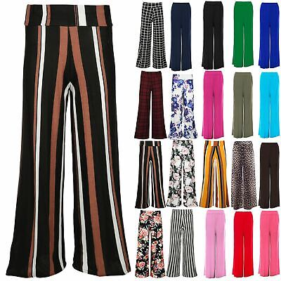Kids Girls Floral Stripe Palazzo Trousers Flared Baggy Wide Leg Pants Legging