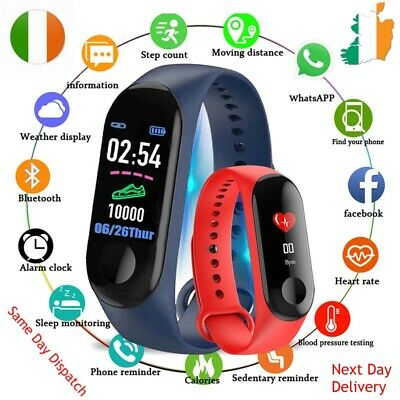 Smart Sports Fitness Tracker Color Watch Waterproof Heart Rate Activity Monitor