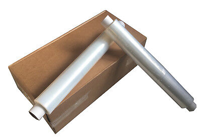 6 X STRONG ROLLS CLEAR PALLET STRETCH SHRINK WRAP CAST PARCEL PACKING 500x300m