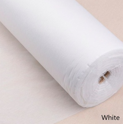 Iron On Fusible Interfacing WHITE LIGHTWEIGHT Fabric 100cm Wide Per Metre