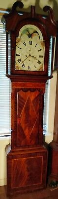"Antique Mahogany Moon Phase  "" Manchester ""  Longcase / Grandfather Clock"