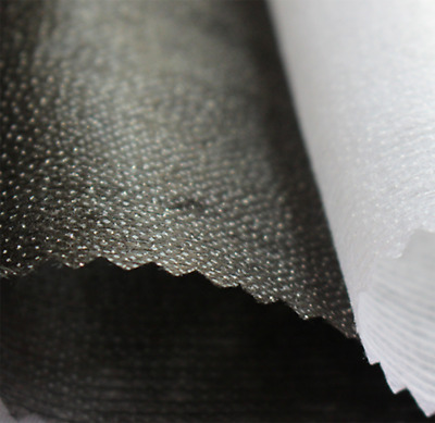 Iron On Fusible Interfacing BLACK HEAVY WEIGHT Fabric 100cm Wide Per Metre