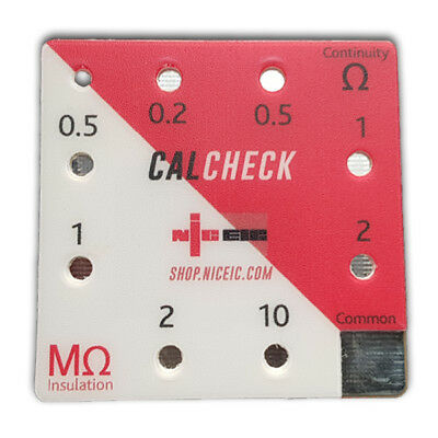 *NEW LOOK* NICEIC - CalCheck Calibration Checkbox Insulation Resistance