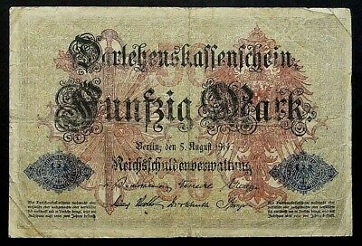 50 Mark 1914 Loan Certificate of the German Empire GERMANY (46E)