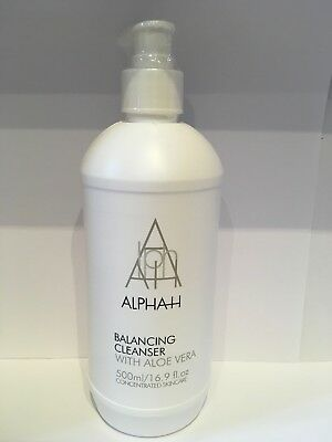 Alpha-H Balancing Cleanser with Aloe Vera, Supersize 500ml New & Sealed