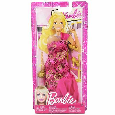 Mattel X7847 Barbie Fabulous PINK Gown Fashion Outfit